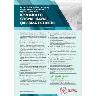 Elektronik Ürün, Telefon ve Telekominikasyon Mağazaları İçin Kontrollü Sosyal Hayat Çalışma Rehberi Afişi