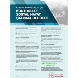 Kahve ve Kıraathaneler İçin Kontrollü Sosyal Hayat Çalışma Rehberi Afişi