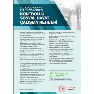 Oto Kuaför ve Oto Yıkamalar İçin Kontrollü Sosyal Hayat Çalışma Rehberi Afişi
