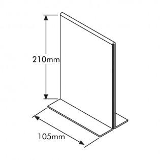 T Tipi Pleksi Föylük/Etiketlik Dikey 1/3 A4 (10X21CM)