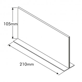 T Tipi Pleksi Föylük/Etiketlik  Yatay 1/3 A4 (21x10cm)
