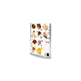 Oval Tabanlı Pleksi Dikey Föylük/Etiketlik  A6 (10x15cm)