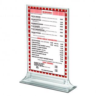 Upright Pleksi Dikey Föylük/Etiketlik  A4 (21X30cm)
