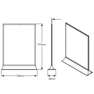 Upright Pleksi Dikey Föylük/Etiketlik  A5 (15x21cm)