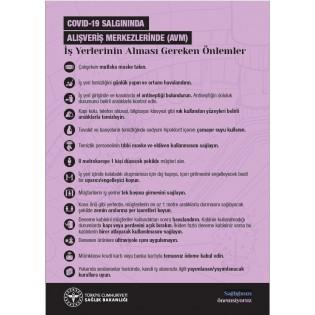 AVM'lerde İş Yerlerinin Alması Gereken Önlemler - Uyarı Afişi