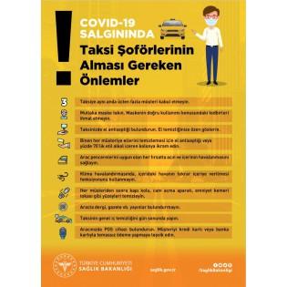 Taksi Şoförlerinin Alması Gereken Önlemler - Uyarı Afişi