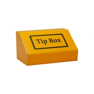 Tipbox - Bahşiş Kutusu Sarı - 20x13xh12cm