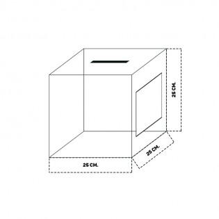 Beyaz Dilek ve Şikayet Kutusu 25x25cm