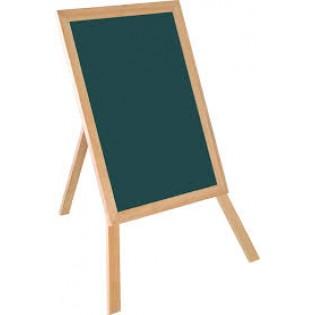 Eko Ahşap Ayaklı Yazı Tah. 35x45 - Yeşil/Siyah