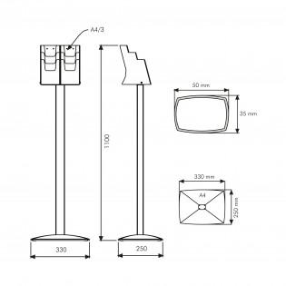 Pillar Broşür Stand 3XA4