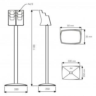 Pillar Broşür Stand 6X1/3 A4