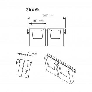 Duvar Tipi Çoklu Broşürlük 2XA5