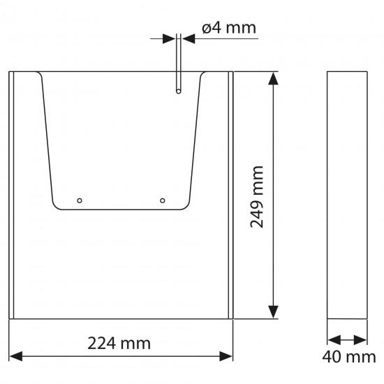 Duvar Tipi Tekli Broşürlük A4