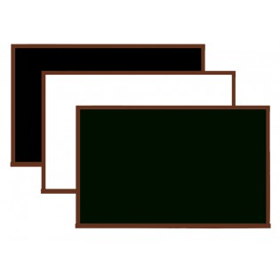 Lüks Ahşap Yazı Tahtası 90x120 - Beyaz