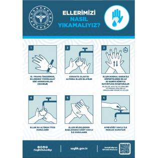 Korona Virüs Ellerimizi Nasıl Yıkamalıyız Afişi