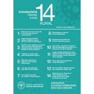 Virüs Riskine Karşı 14 Kural Afişi