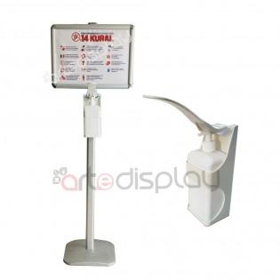 Dirsek Temaslı Dezenfektan Dispenseri - Pompalı Dezenfektan Stand