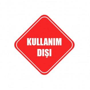 Kullanım Dışı Uyarı Etiketi 15x15 cm