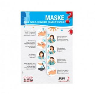 Maske Nasıl Takılır, Kullanılır, Çıkarılır ve Atılır Afişi