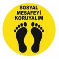 Sosyal Mesafe Etiketleri - Yer Stickerleri