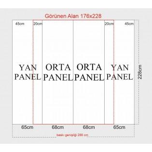 Örümcek Stand 2 Panel Oval (3x2) Hardcase