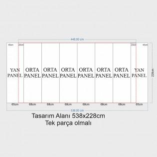 Örümcek Stand 6 Panel Oval (3x6) Hardcase
