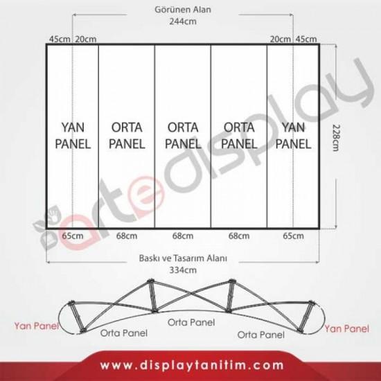 Örümcek Stand 3 Panel Oval (3x3) Hardcase