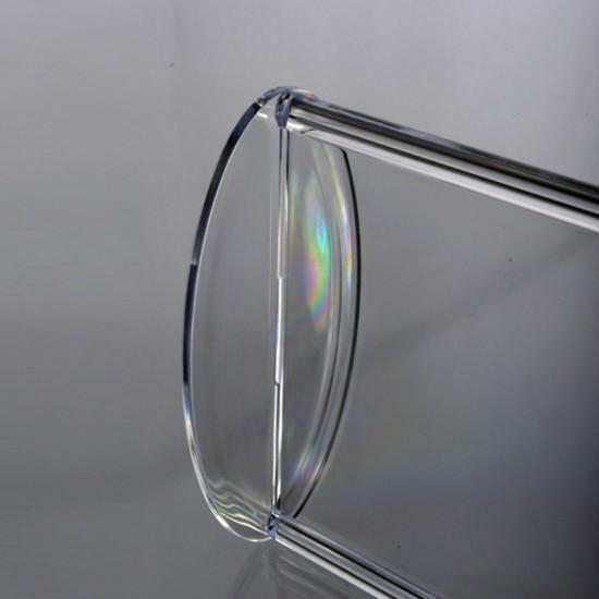 Oval Tabanlı Pleksi Dikey Föylük/Etiketlik  A5 (15x21cm)
