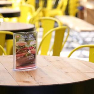Oval Tabanlı Pleksi Dikey Föylük Etiketlik  A6 (10x15cm) - 25li Paket