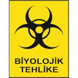 Biyolojik Tehlike Uyarı İkaz Levhası