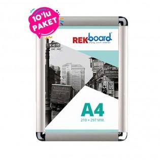 A4 Alüminyum Açılır Kapanır Rondo Çerçeve 10'lu Paket