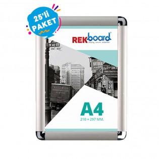 A4 Alüminyum Açılır Kapanır Çerçeve Rondo (21x30cm) - 25li Paket