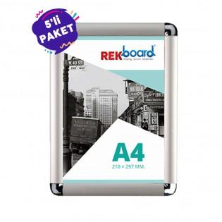 A4 Alüminyum Açılır Kapanır Çerçeve Rondo (21x30cm) - 5li Paket