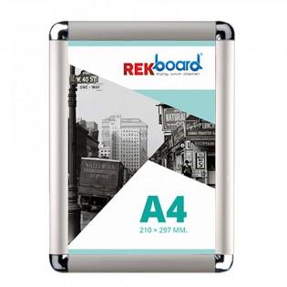 A4 (21x30cm) Alüminyum Açılır Kapanır Çerçeve Rondo Köşe