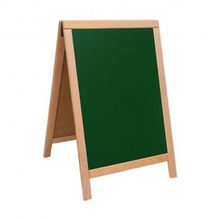 Ahşap A Pano 50x70 CM. - Yeşil/Siyah