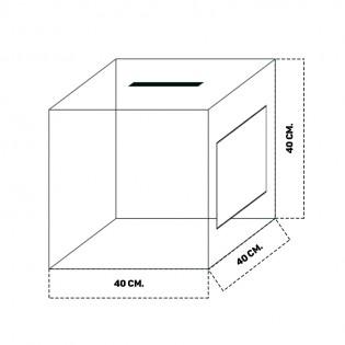 Beyaz Dilek ve Şikayet Kutusu 40x40cm
