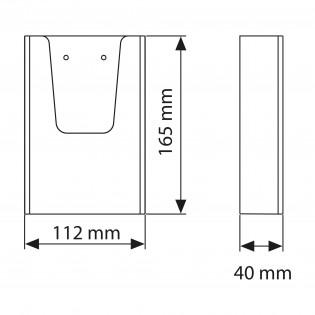 Duvar Tipi Tekli Broşürlük 10,5x21cm 20lu Paket