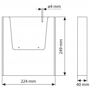 Duvar Tipi Tekli Broşürlük A4 (21x30cm) 20li Paket