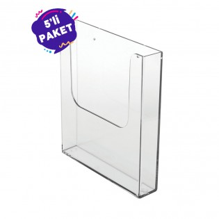 Duvar Tipi Tekli Broşürlük A4 (21x30cm) 5li Paket