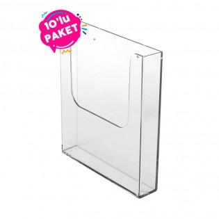 Duvar Tipi Tekli Broşürlük A5 (15x21cm) 10lu Paket