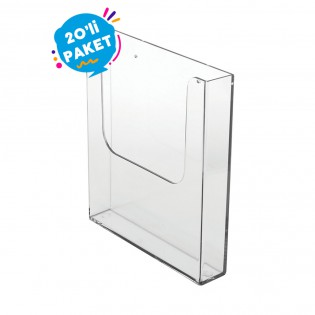 Duvar Tipi Tekli Broşürlük A5 (15x21cm) 20li Paket