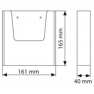 Duvar Tipi Tekli Broşürlük A5 (15x21cm) 25li Paket