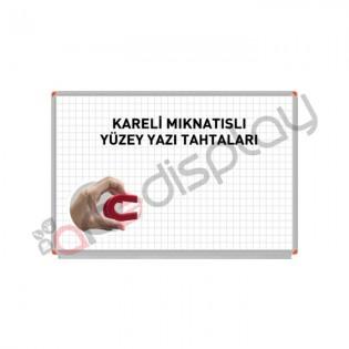 Kareli Mıknatıslı Yüzey Yazı Tahtası - 120x360cm
