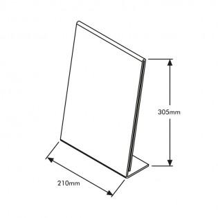 L Tipi Pleksi Föylük/Etiketlik  Dikey A4 (21x30cm)