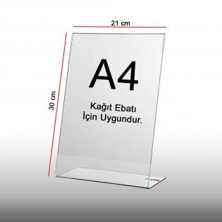 L Tipi Pleksi Föylük Etiketlik Fiyatlık Dikey A4 (21x30cm) - 5li Paket