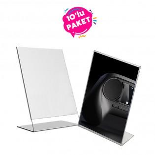 L Tipi Pleksi Föylük Etiketlik Fiyatlık Dikey A6 (10x15cm) - 10li Paket