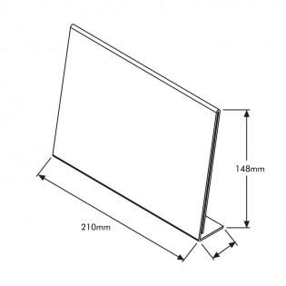 L Tipi Pleksi Föylük/Etiketlik Yatay A5 (21x15cm)