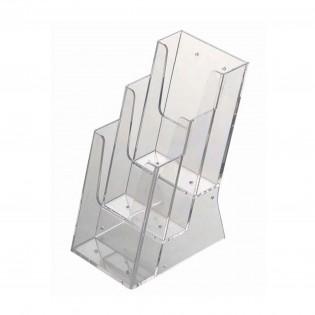 Masaüstü Broşürlük 3 Katlı 1/3 A4 (10,5x21cm)