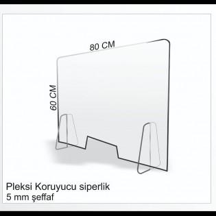 Masaüstü Şeffaf Koruyucu Siperlik - Seperatör