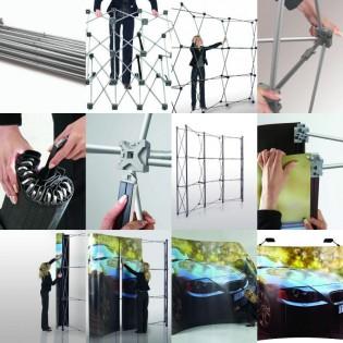 Örümcek Stand 2 Panel Düz (3x2) Hardcase